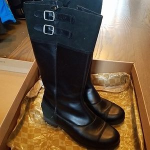 UGG Shoes - UGG tall black leather boots
